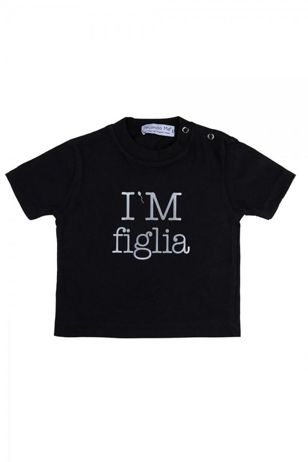 """T-shirt  Bambina Nera """"I'M..."""