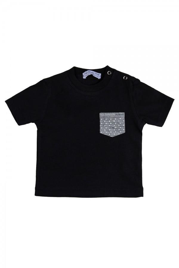 """T-shirt  Bambino Nera """"Pocket"""""""