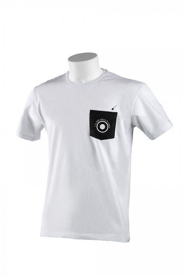 "T-shirt  Uomo Bianca ""Pocket"""