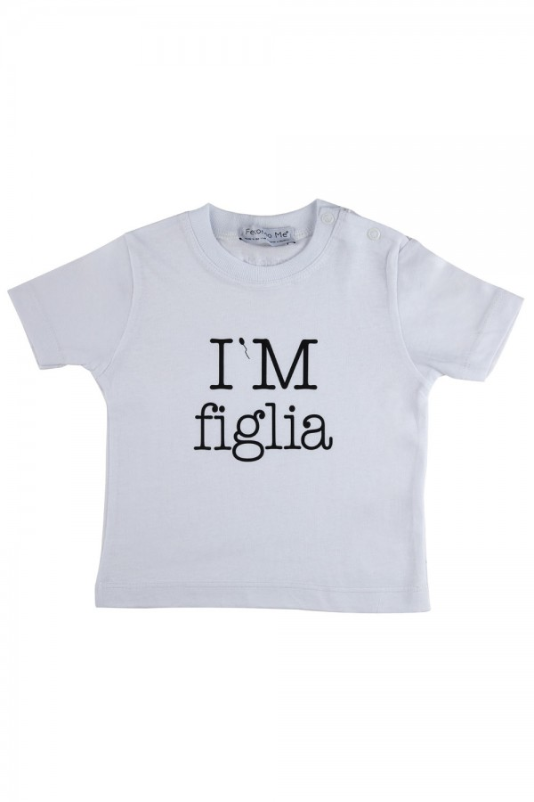 T-shirt  Bambina Bianca...