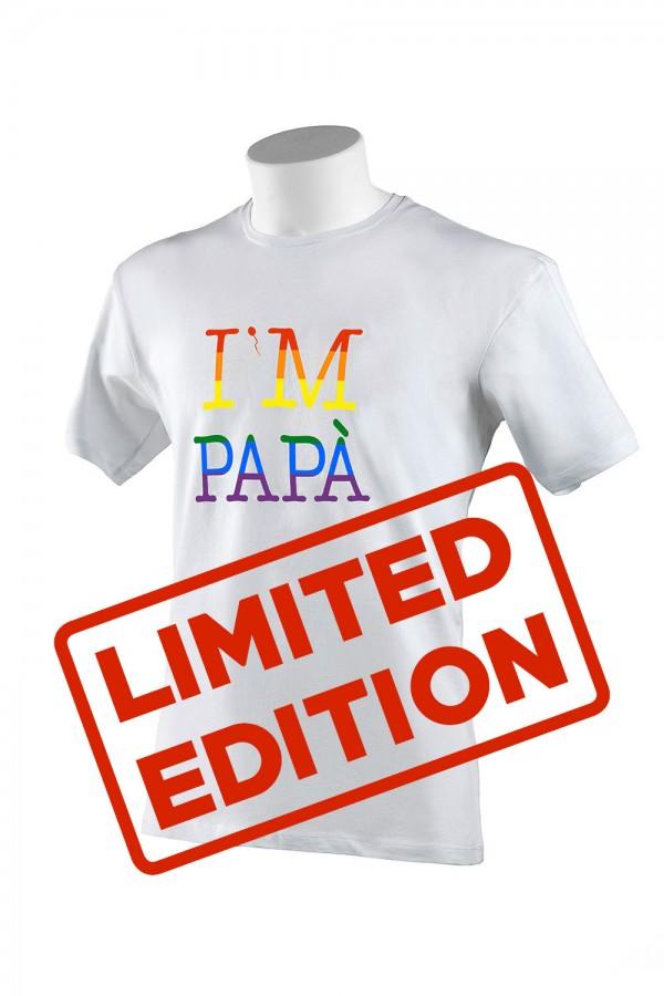 "T-shirt  Uomo Bianca ""I'M..."